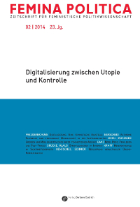 Cover Femina Politica - Jg. 23, Nr. 2 (2014): Digitalisierung zwischen Utopie und Kontrolle